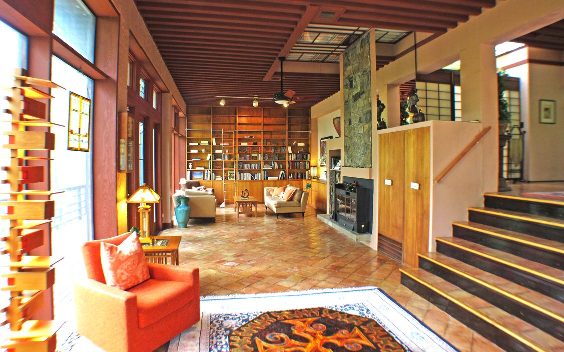 Frank lloyd wright approved home in usonian community asks - Frank lloyd wright house interiors ...