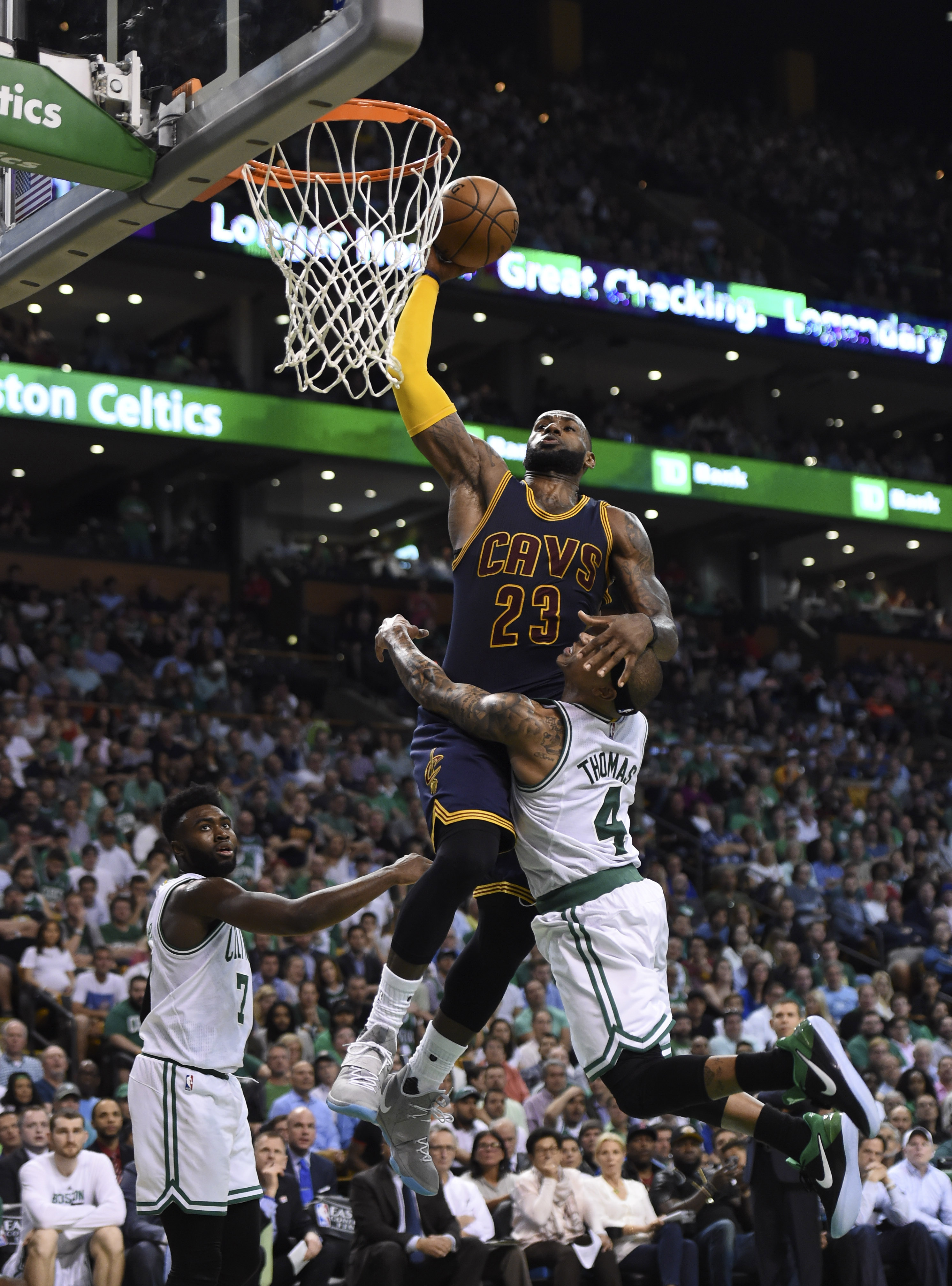 Isaiah Thomas' foolhardy attempt to stop LeBron James sums up the Eastern Conference Finals ...