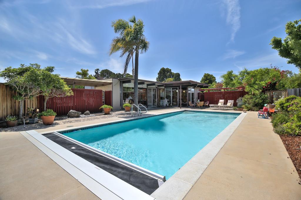1964 eichler with pool and two koi ponds asks 1 7m curbed for Koi pond next to pool