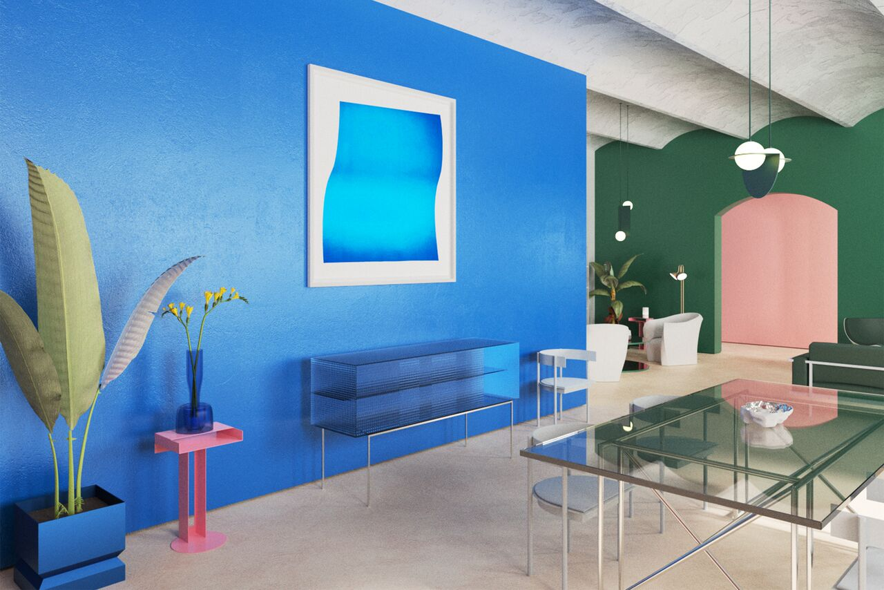 Interior Trend 1 Color Blocking Featuring Artwork By Anne Senstad Twyla