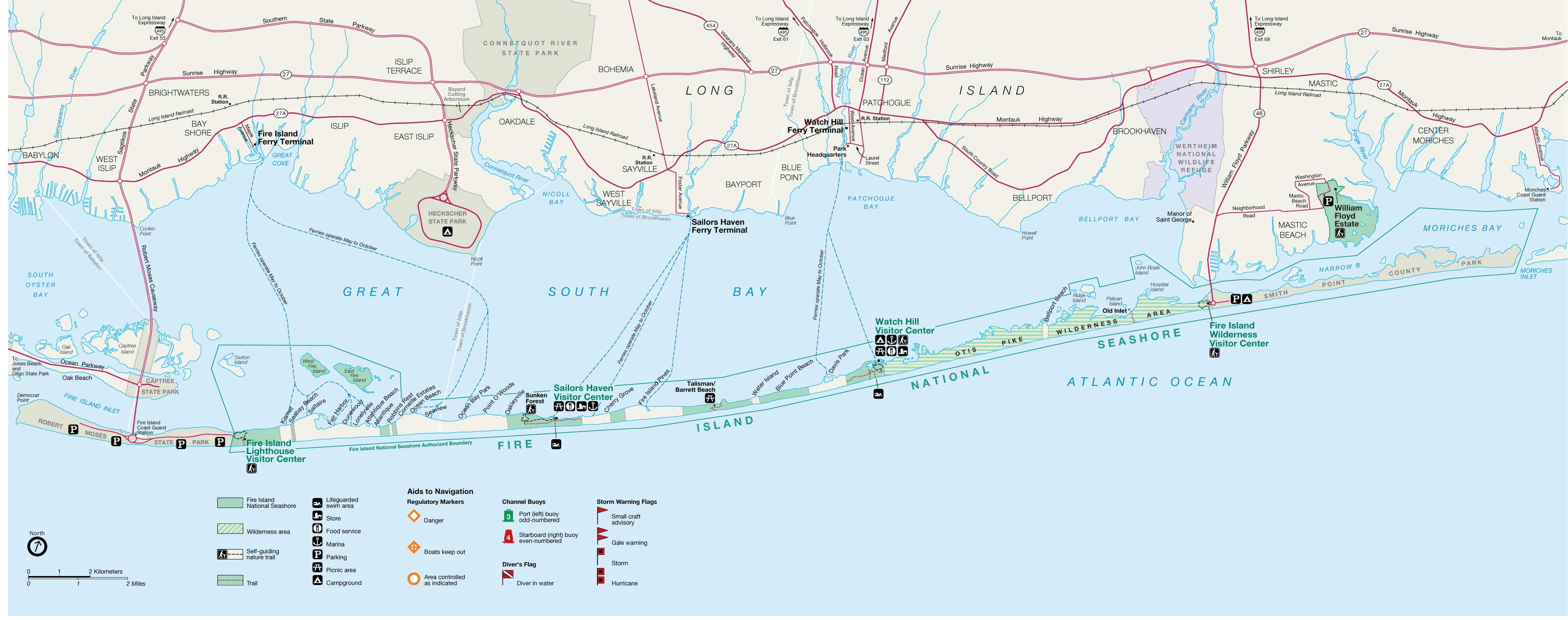 Map Of Kismet Fire Island