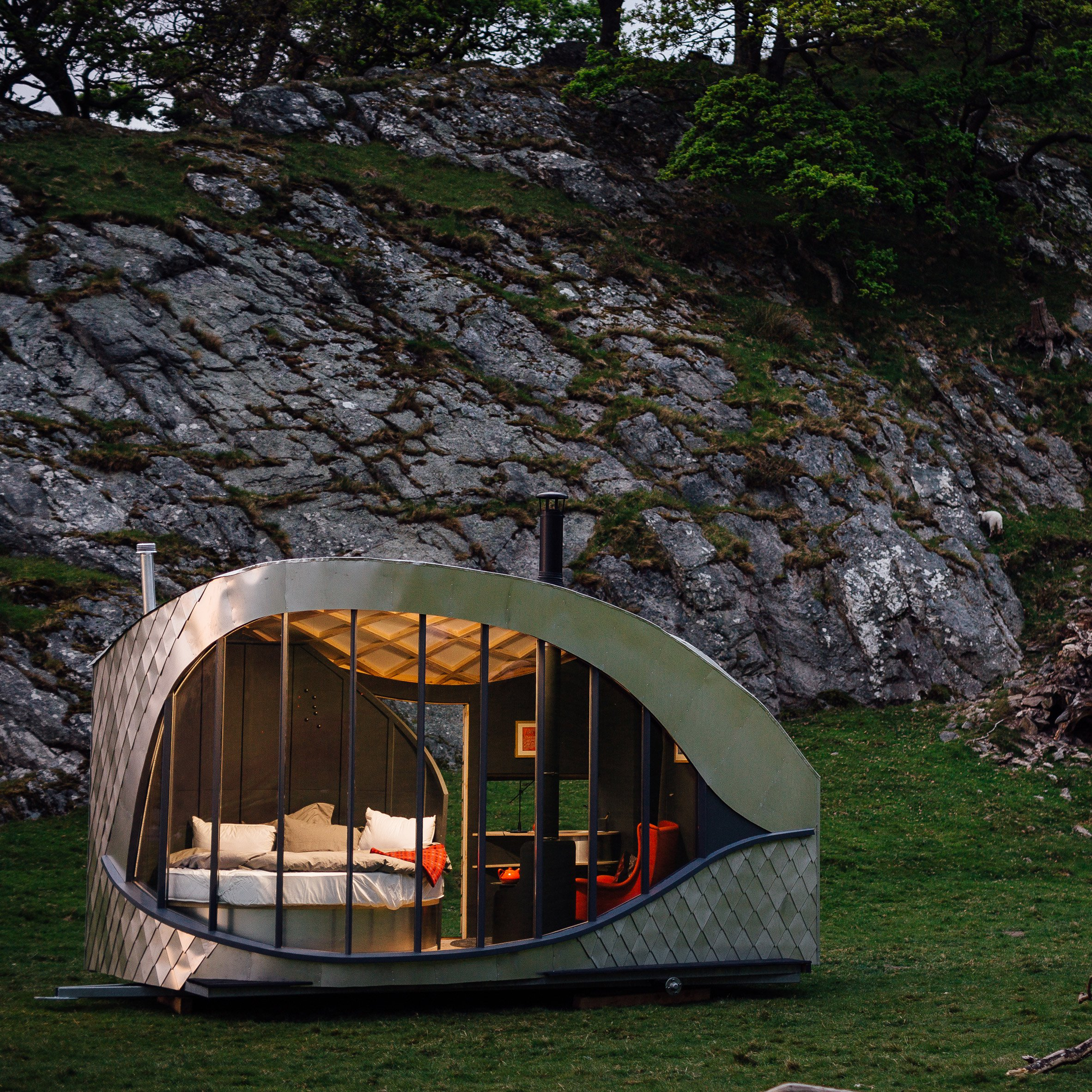 These glamping cabins were inspired by Welsh myths and legends