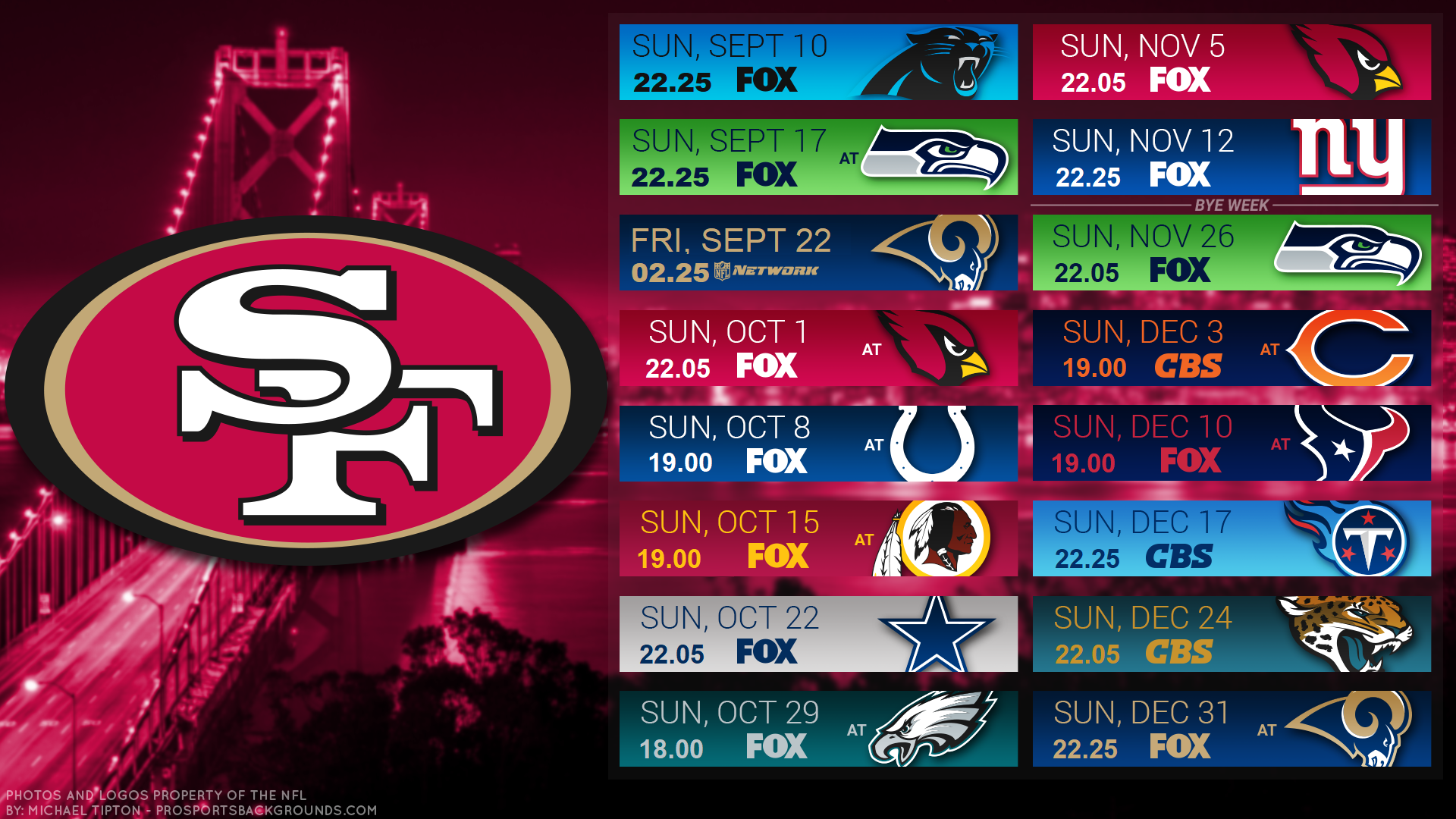 image regarding 49ers Printable Schedule named Fox 25 Routine