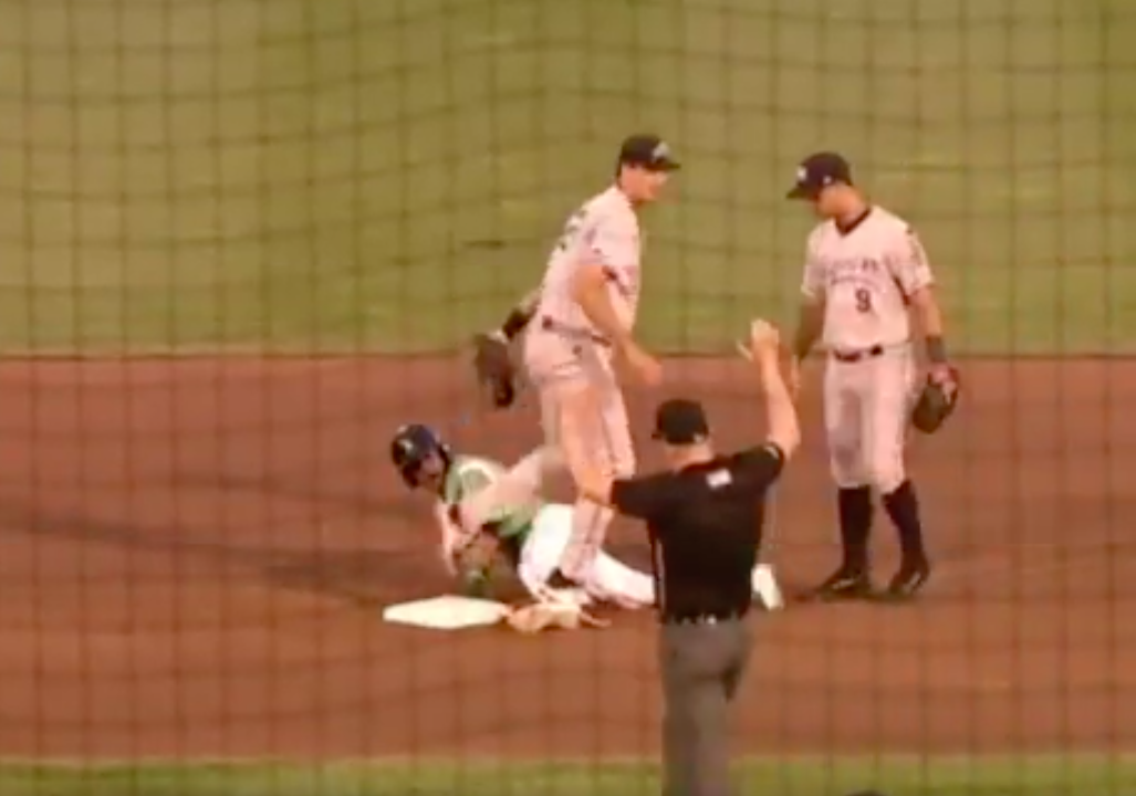 Whitecaps player fires ball at opponent during brawl