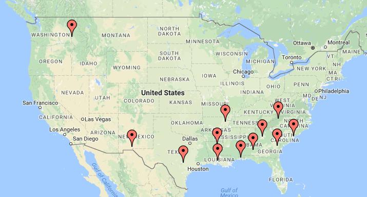 Sun Belt Travel Log Underdog Dynasty - Us sunbelt map