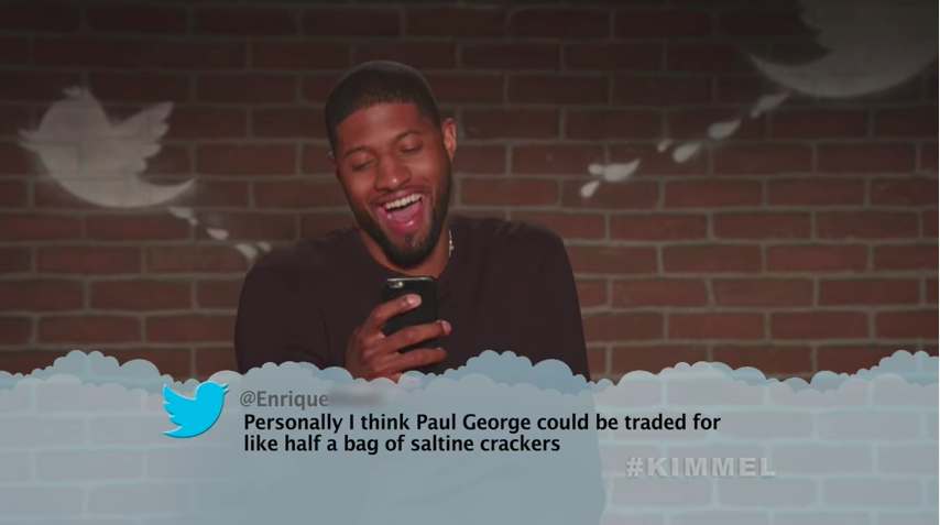 Magic Johnson, Paul George, plus more absolutely fried in Jimmy Kimmel's NBA Mean Tweets ...