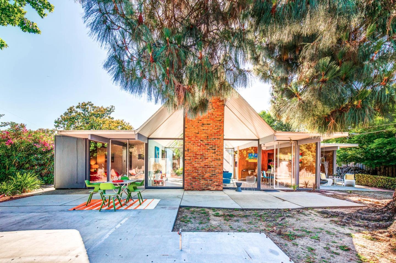 Sunnyvale eichler with double a frame atrium asks for Eichler homes
