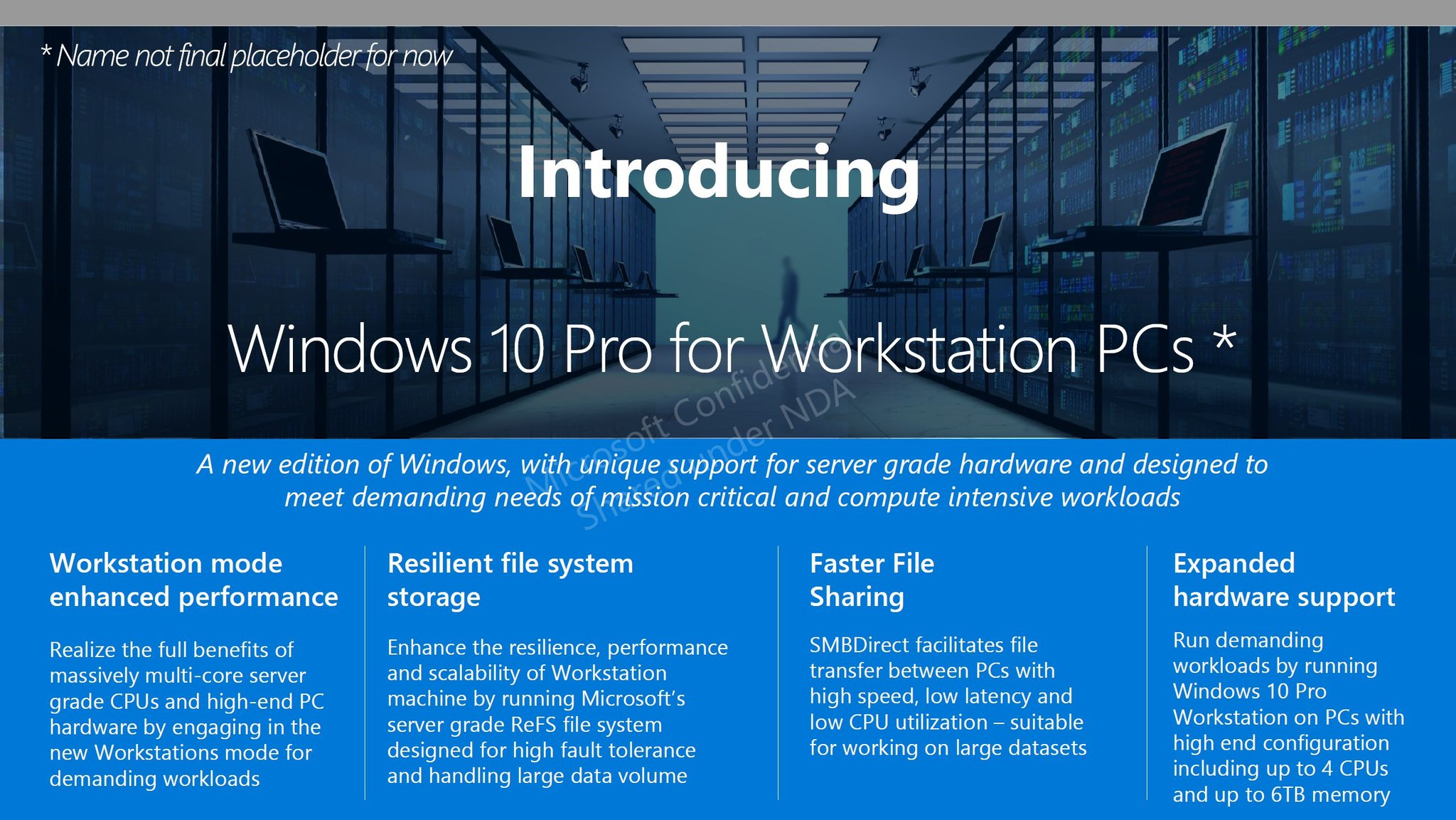 Microsoft leak reveals new windows 10 workstation edition for What is microsoft windows