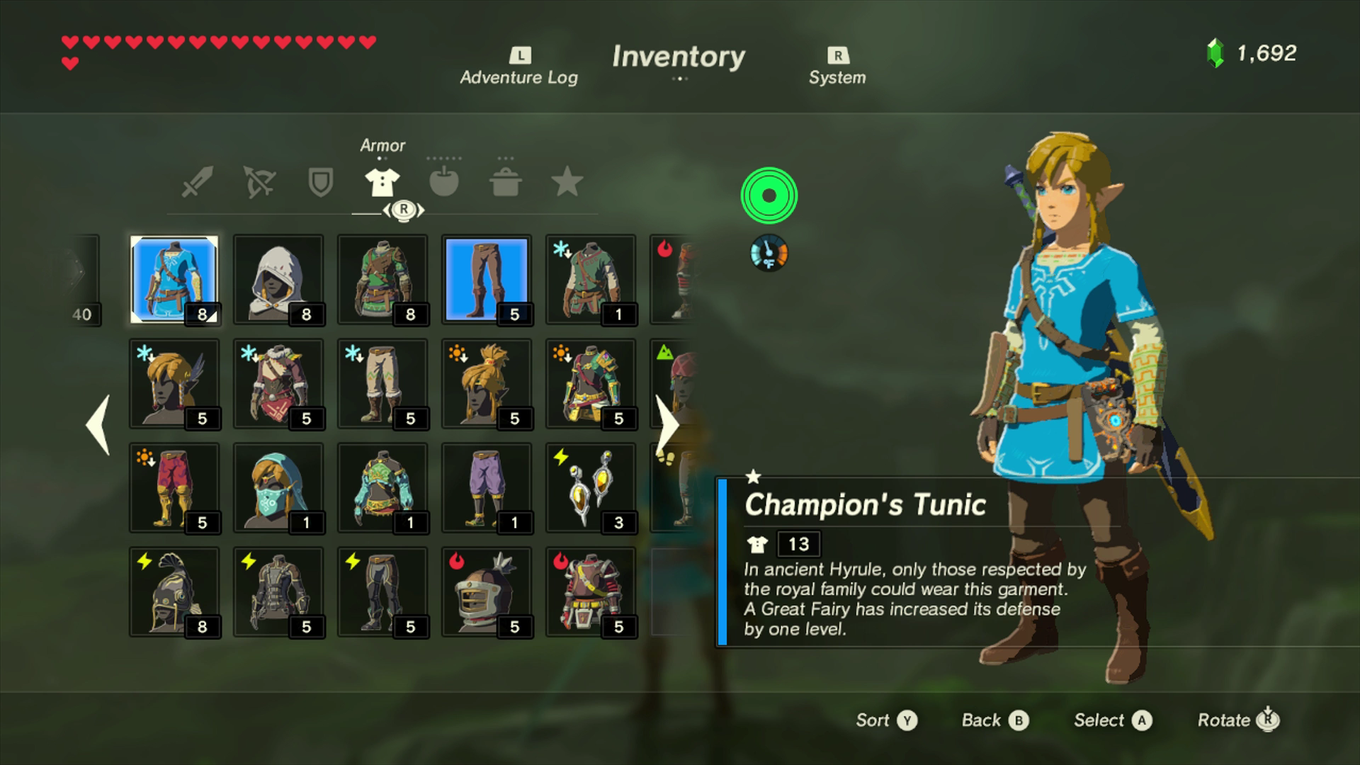 zelda how to get red tunic