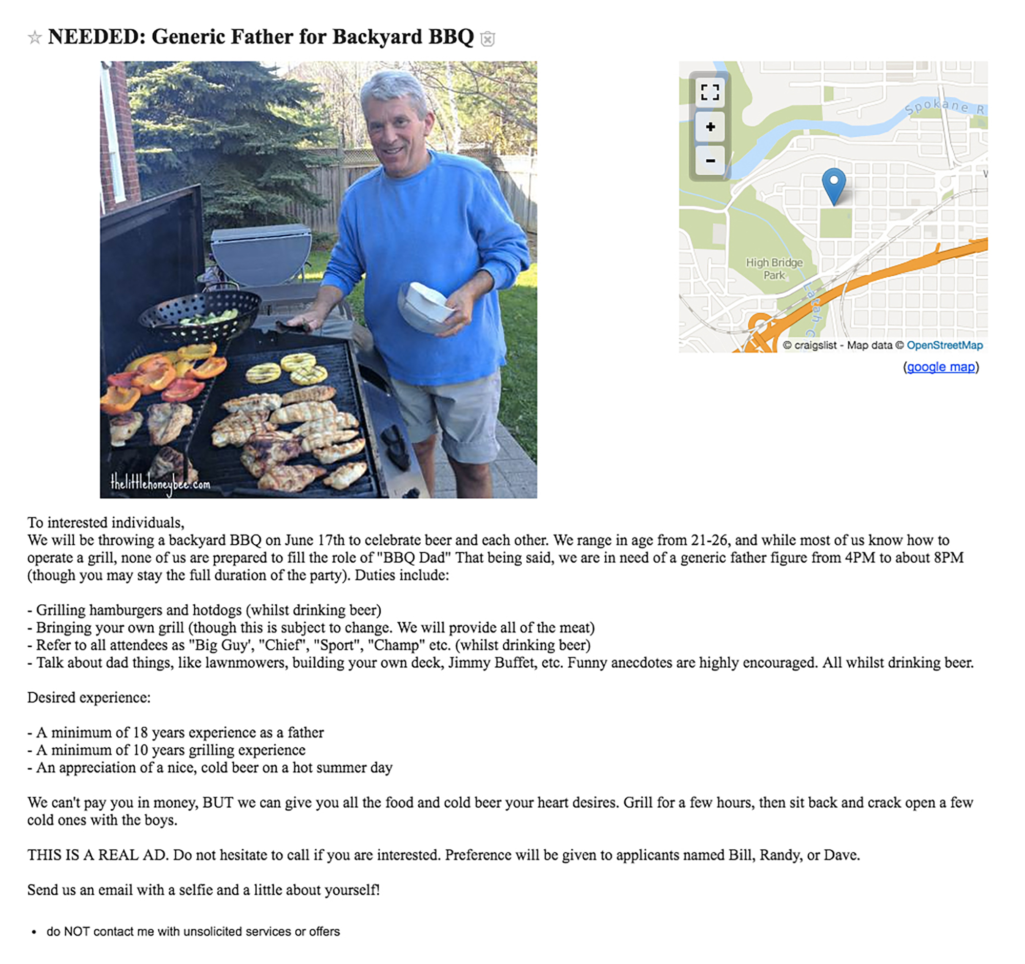 Spokane Bros Demand Bill Murray Attend Cookout As BBQ Dad Eater - Cook out us map
