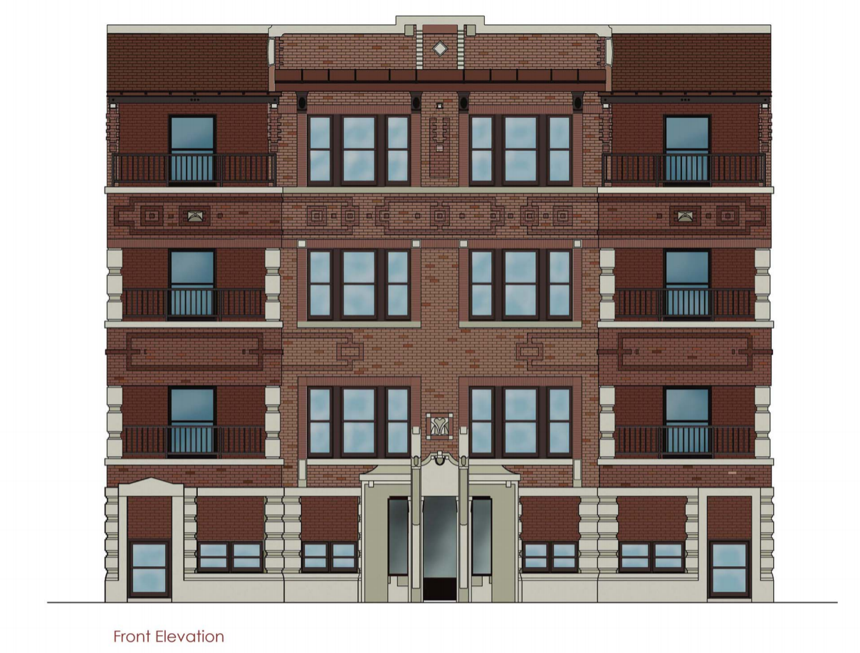 Front Elevation Of Hotel Building : Developer seeks new apartments in historic rogers park