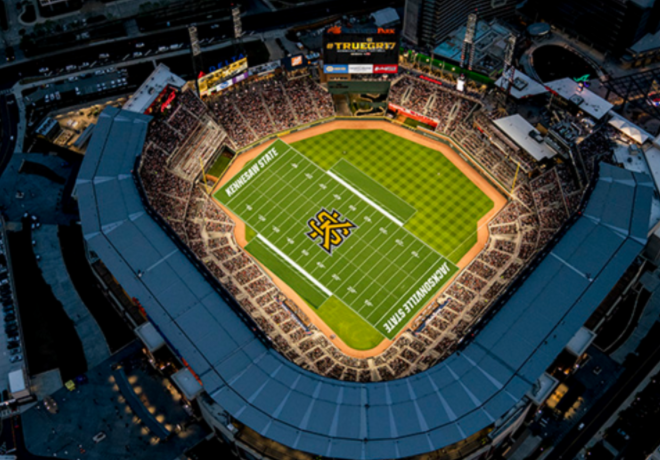 The Atlanta Braves Stadium Will Host A College Football Game In 2018 Sbnation Com