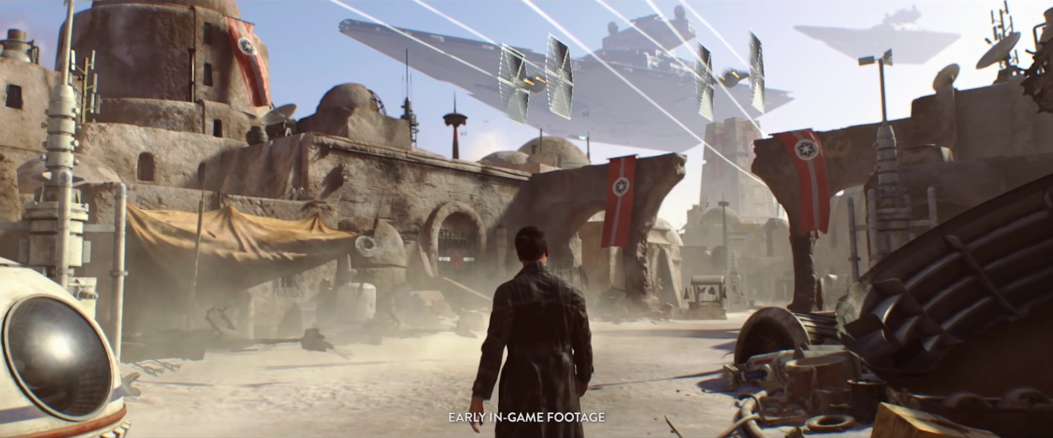 Visceral Games Star Wars project - Imperial-occupied town from early in-game footage