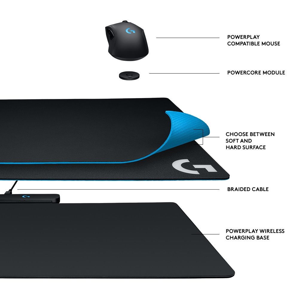 Logitech's new mousepad charges your wireless mouse while you play