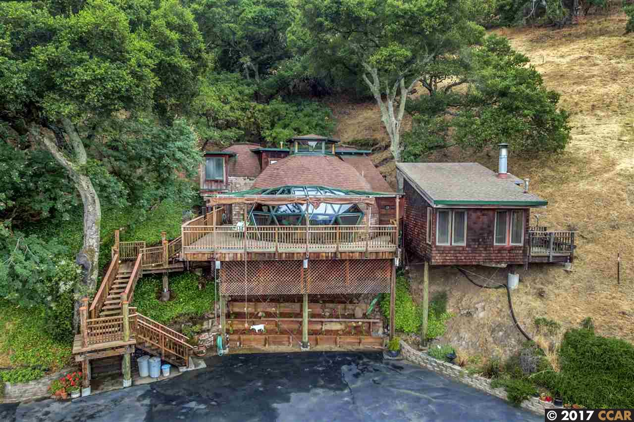 geodesic dome home in lafayette asks 889k curbed sf the new ad for the domed domicile overlooking diablo valley touts its original green credentials by way of recycled wood interiors as well as its unique