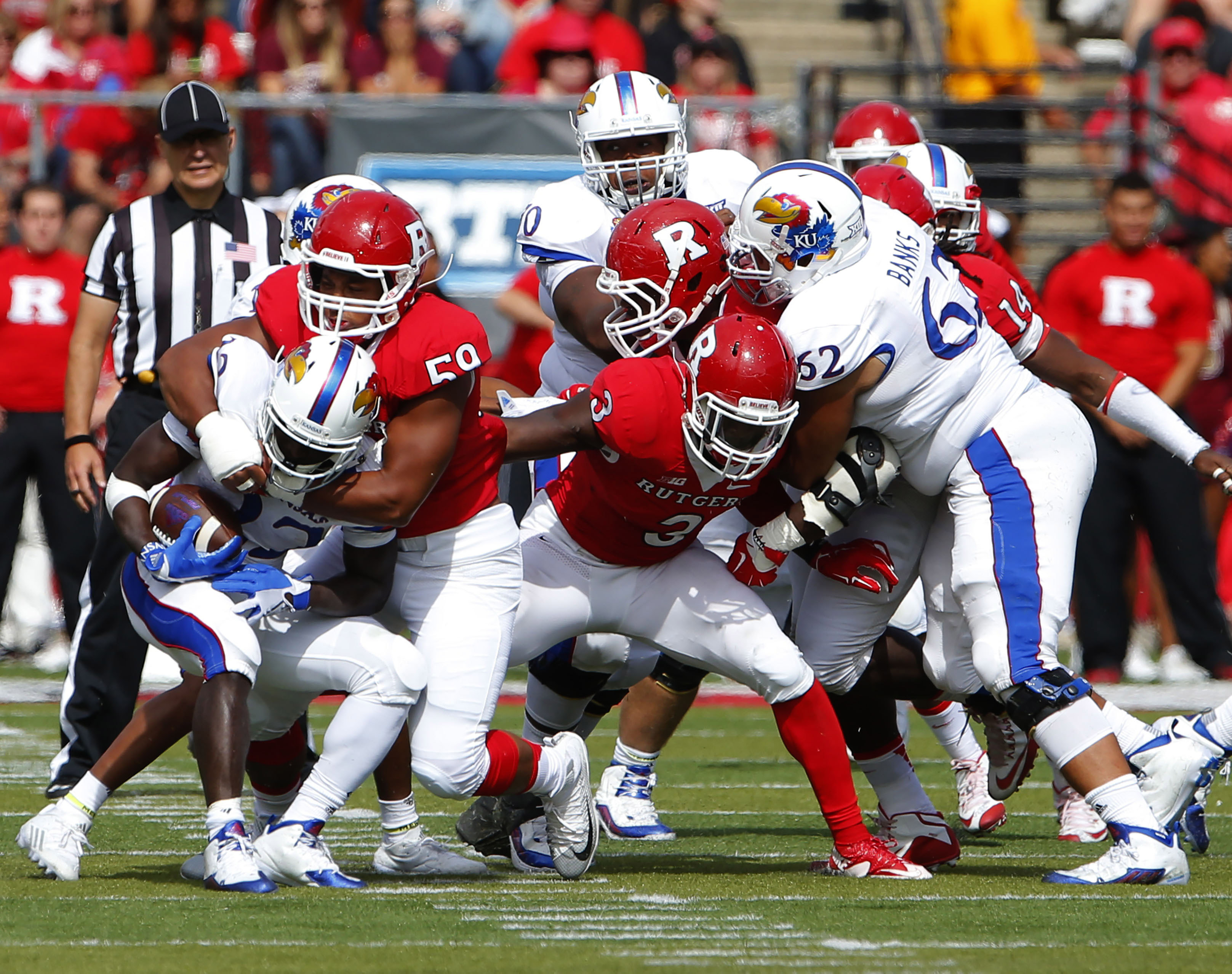 NCAA Football: Kansas at Rutgers