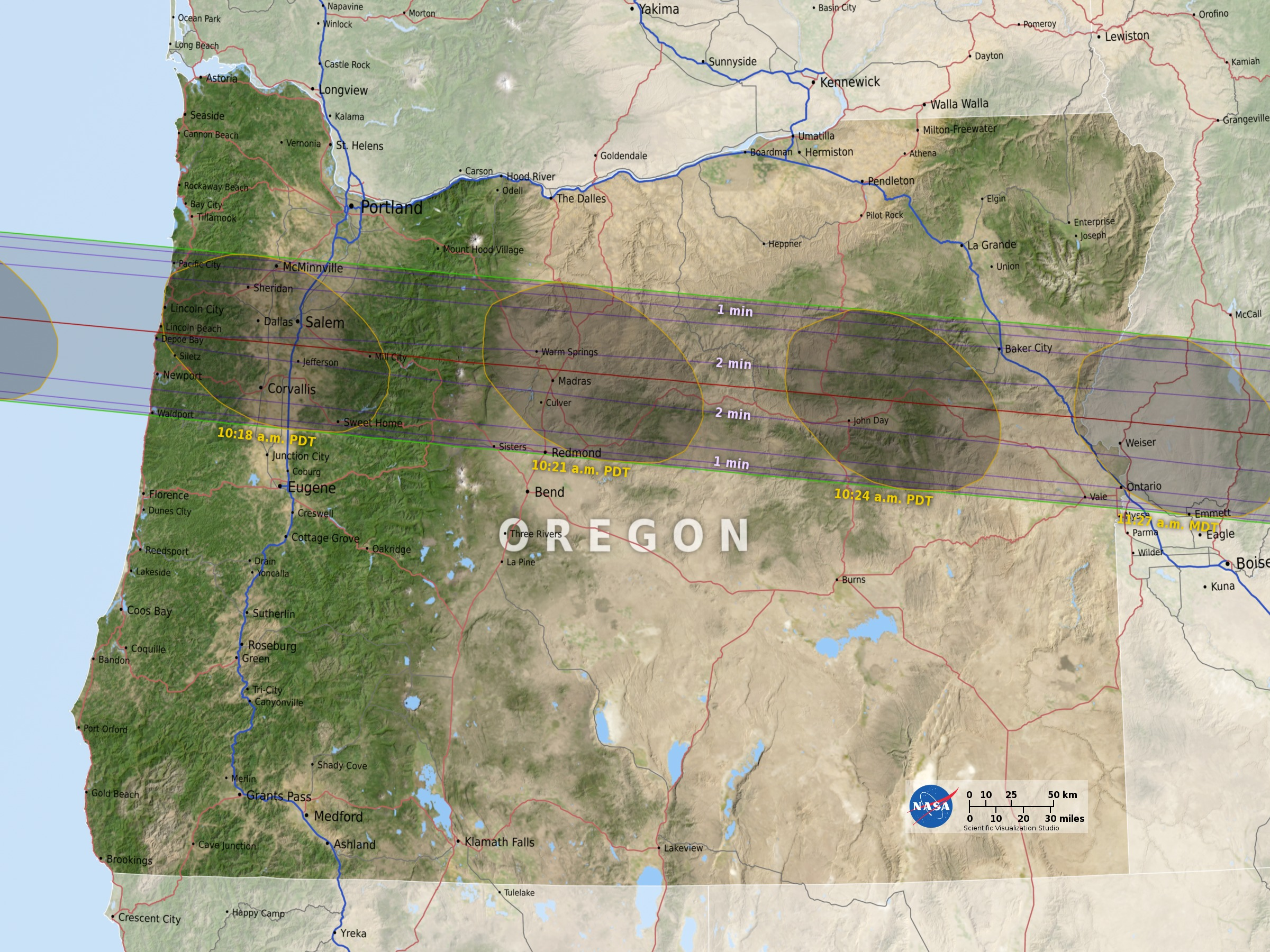 Solar Eclipse The Best Places To See The Rare Phenomenon Vox - Map of solar eclispe us 2017