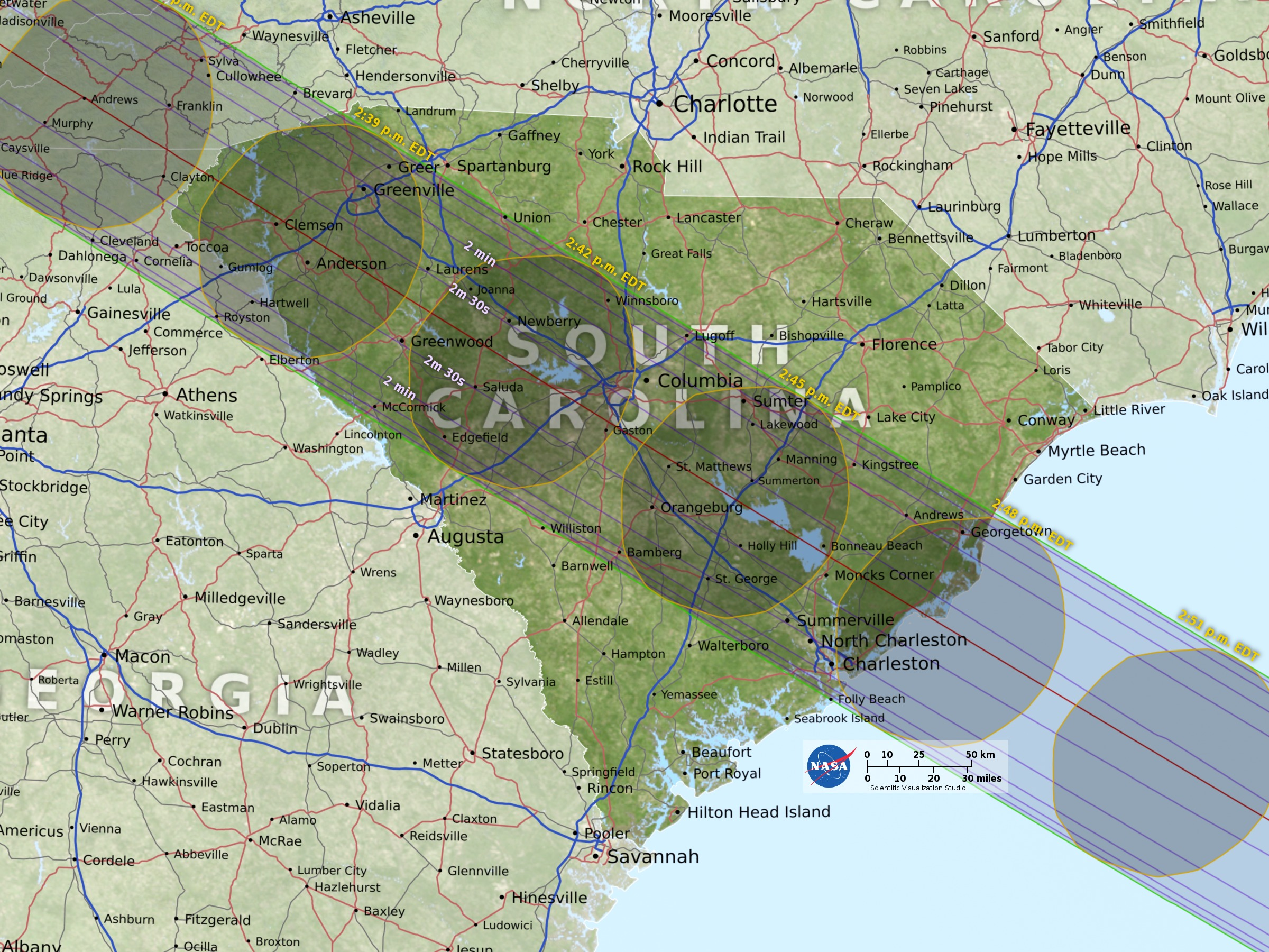 Solar Eclipse The Best Places To See The Rare Phenomenon Vox - Man in the middle of the us map