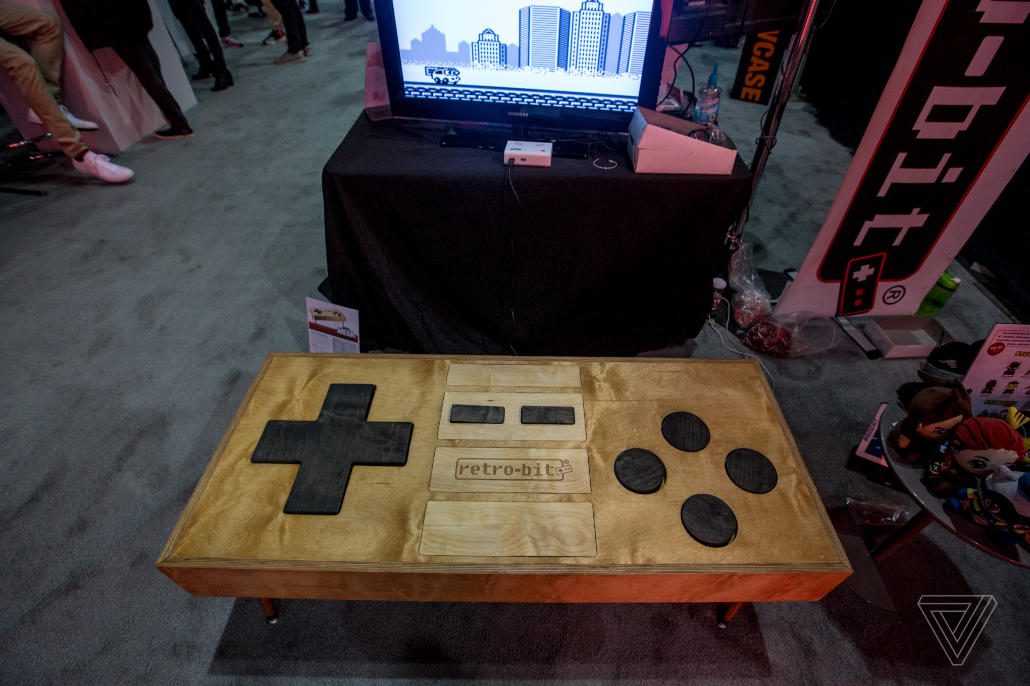 This coffee table sized NES controller looks great but plays