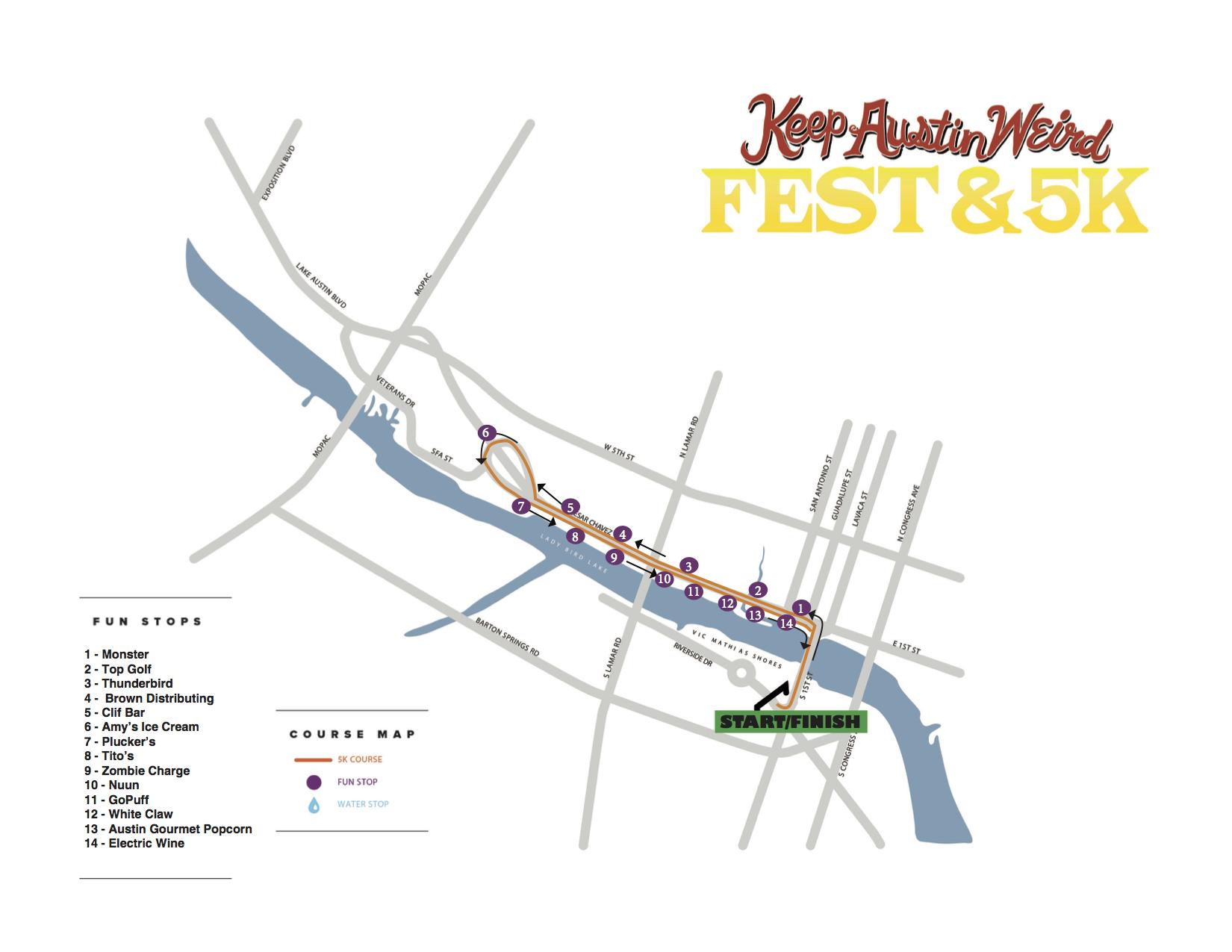 Madison Square Garden: Keep Austin Weird Fest And 5K 2017: Street Closures