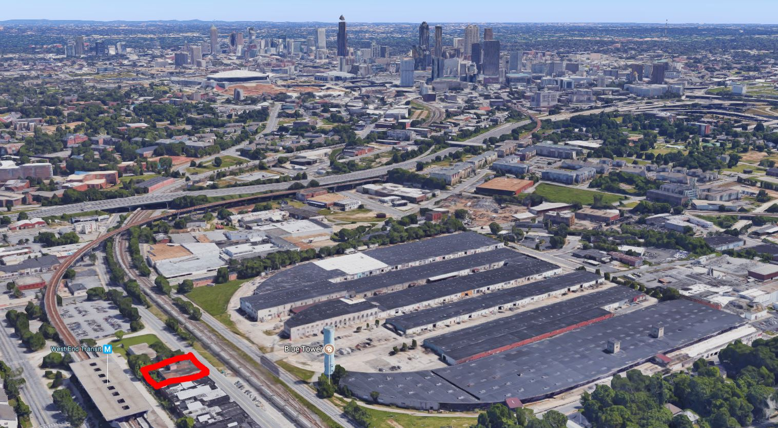 Next to west end marta old warehouse to become industrial for Mercedes benz stadium will call location
