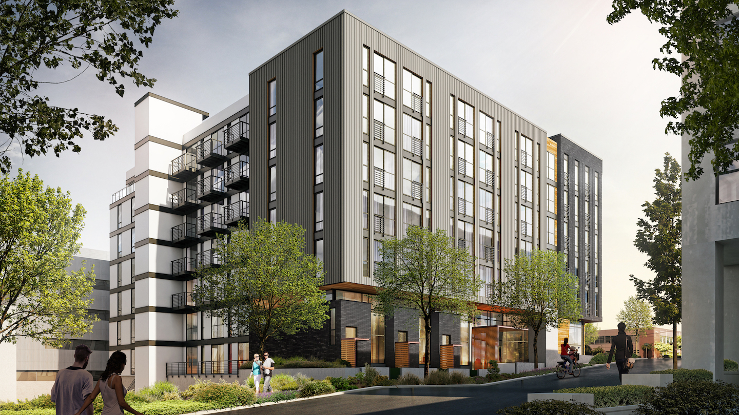 Take a first look at zella apartments in queen anne for Multi family architecture
