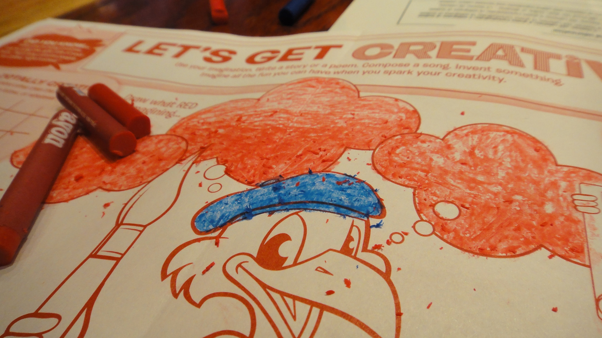 how coloring books for kids and adults ended up in restaurants