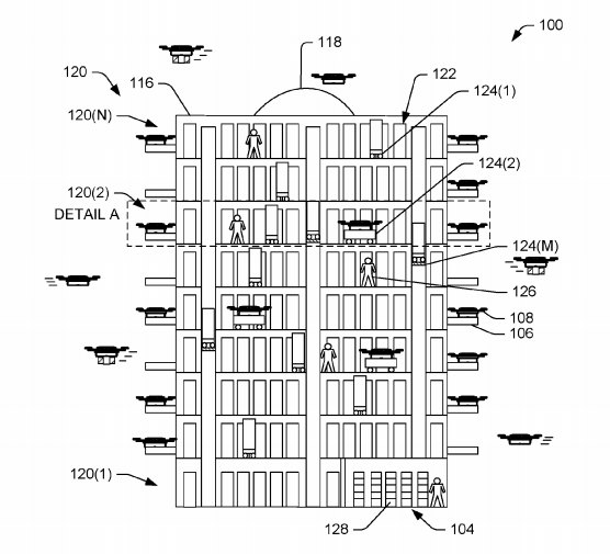 Amazon's futuristic drone delivery centres could look like beehives
