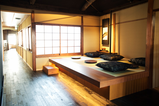 The Second Floor Houses Three Platform Rooms Lined With Tatami Mats. Guests  Will Have To Remove Their Shoes To Sit On Cushions In The Mat Area.