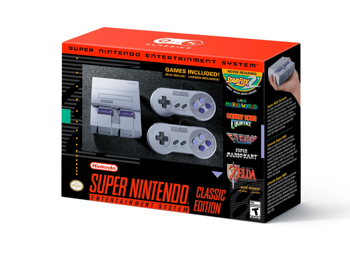 The SNES Classic Edition box.        nintendo