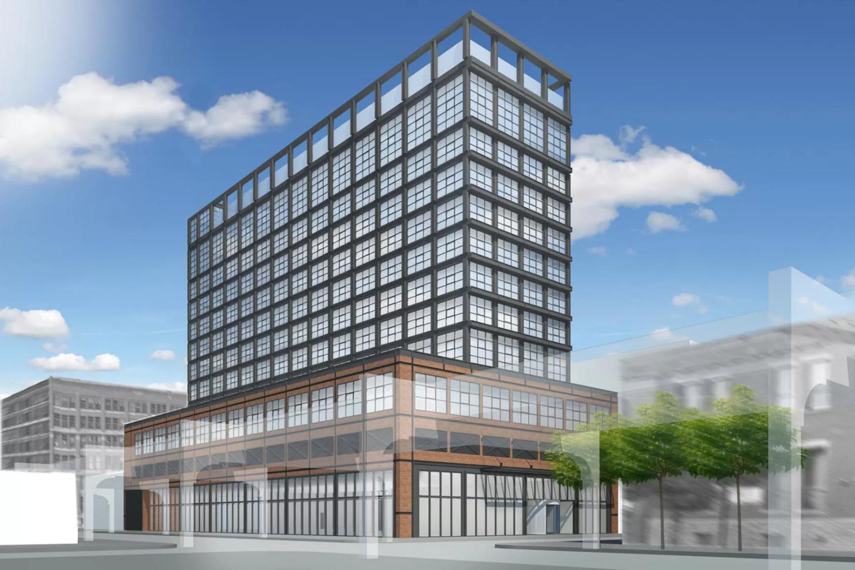 work begins on 12 story hoxton hotel in chicago s hot. Black Bedroom Furniture Sets. Home Design Ideas