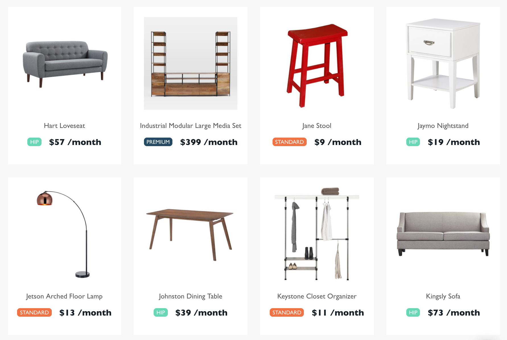 Feather Is A New Rental Company For Millennials Who Like Fancy Furniture