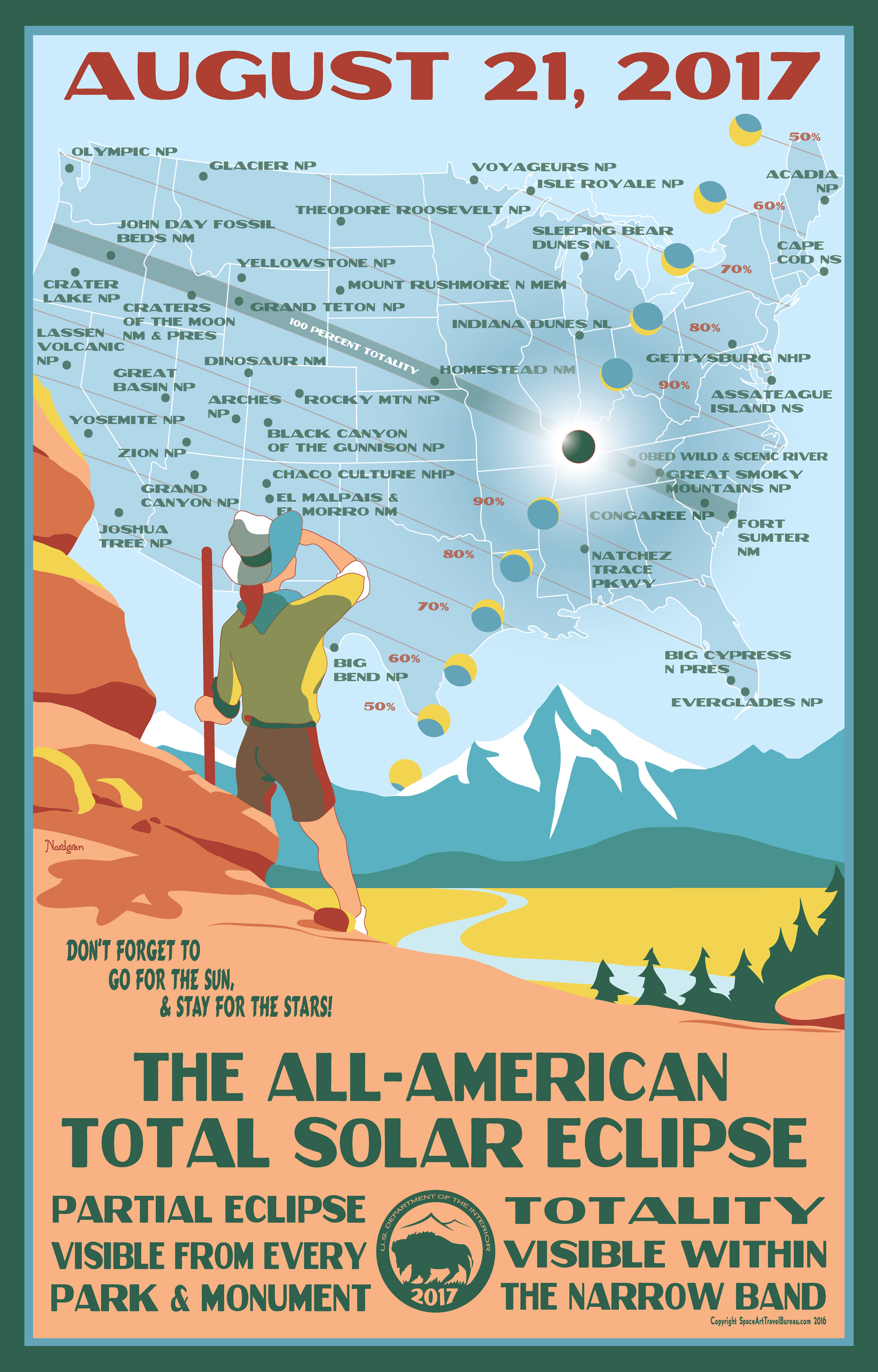 These gorgeous posters of national parks will make you excited for the solar eclipse