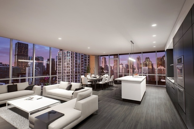Luxury Apartments Condo Floor: Newly-listed Units In 24-story River North Condo Tower Are