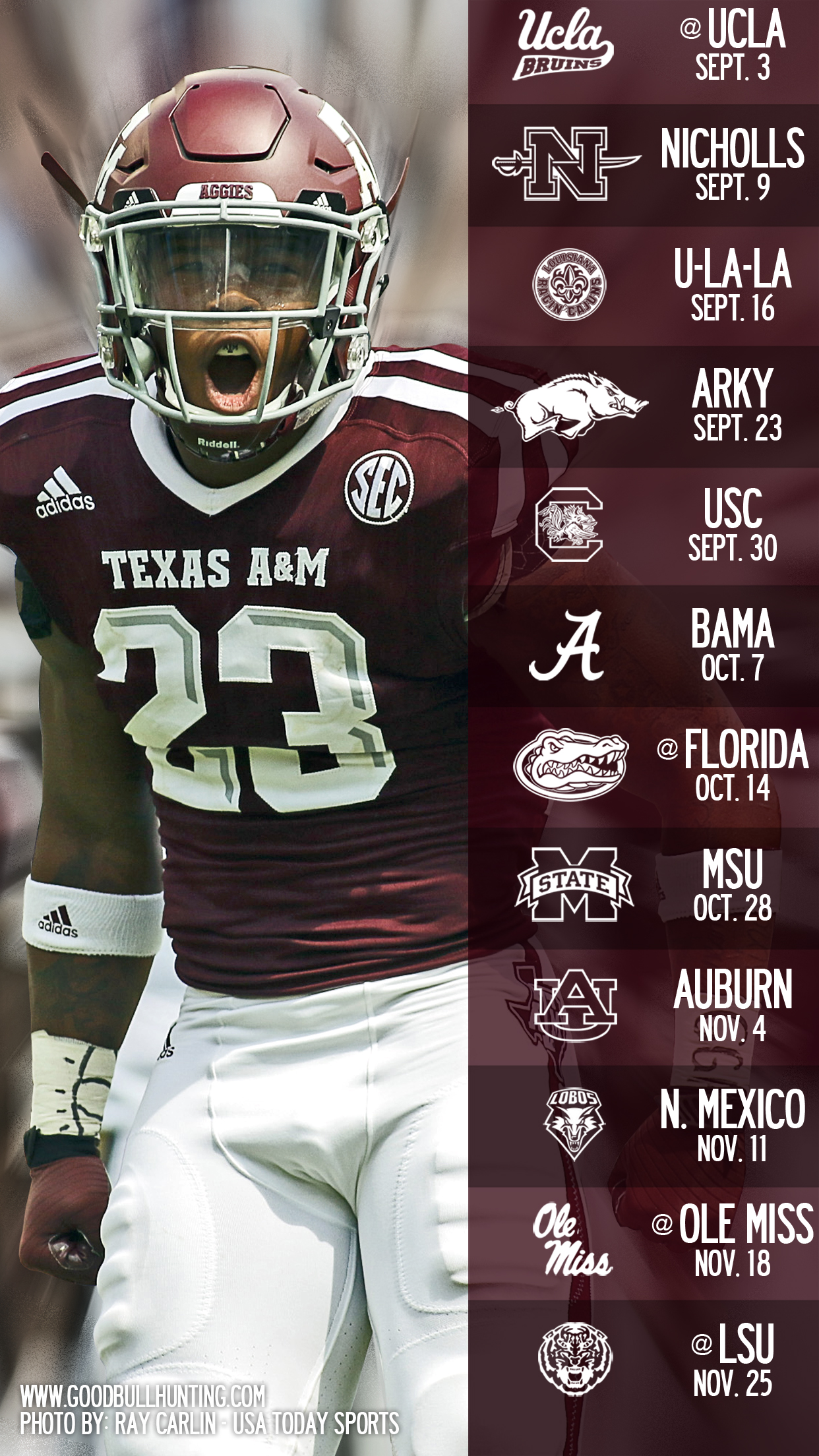 2017 Aggie Football Wallpapers   Good Bull Hunting
