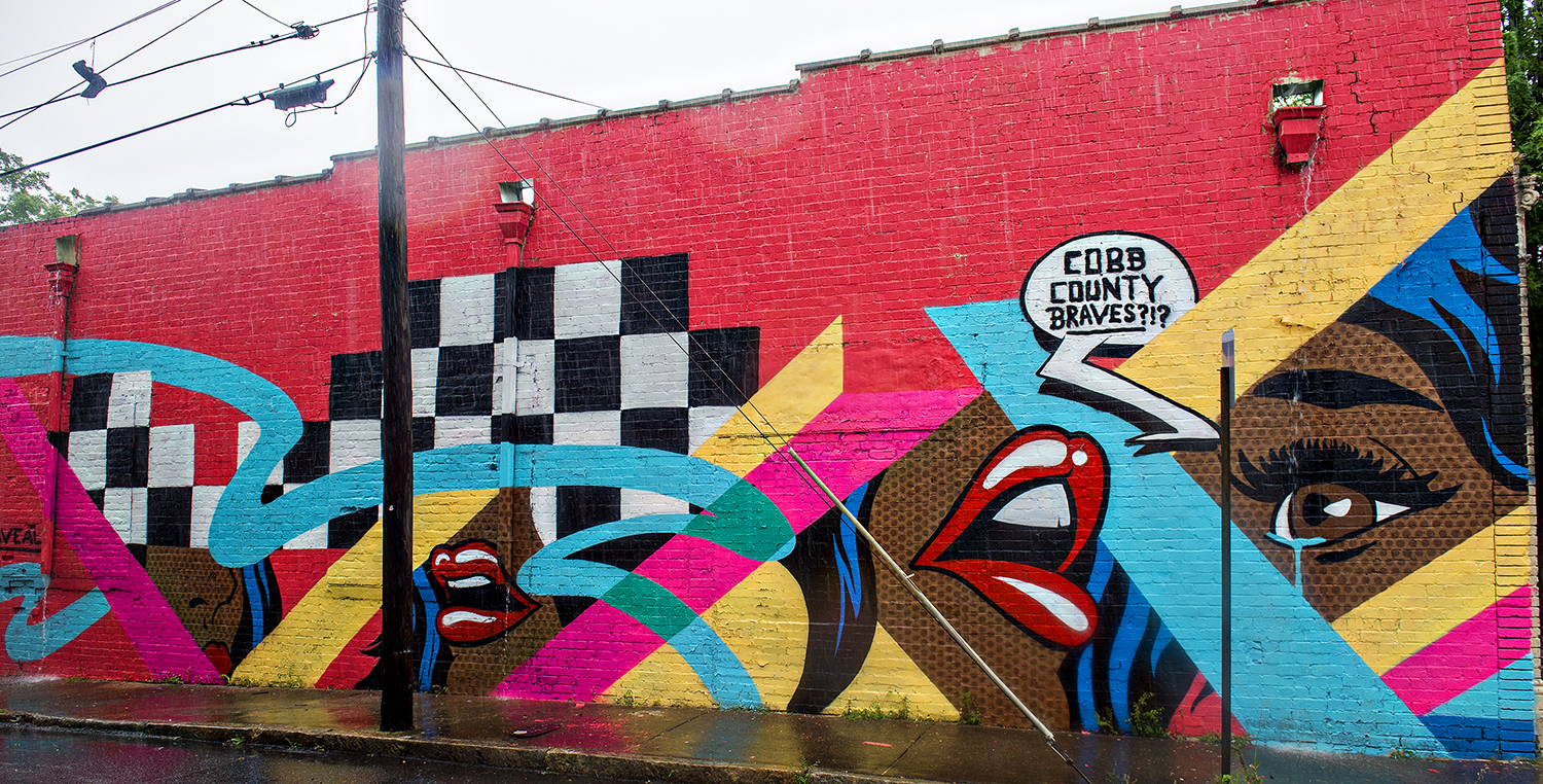 Say hello to atlanta s latest batch of eye popping street for Atlanta mural artist