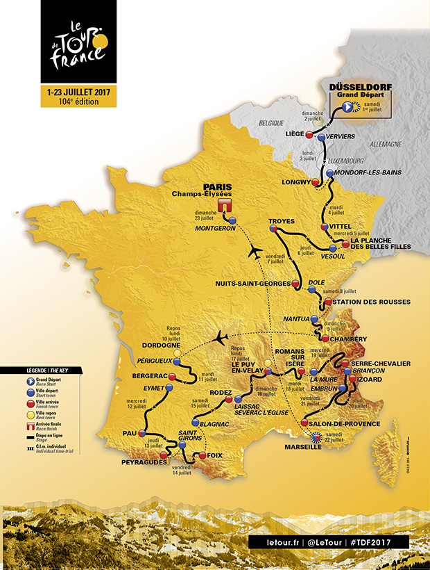 Tour de France 2017 route and map A full look at this years