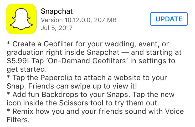 Add Backdrops, Voice Filters & Links to Snaps