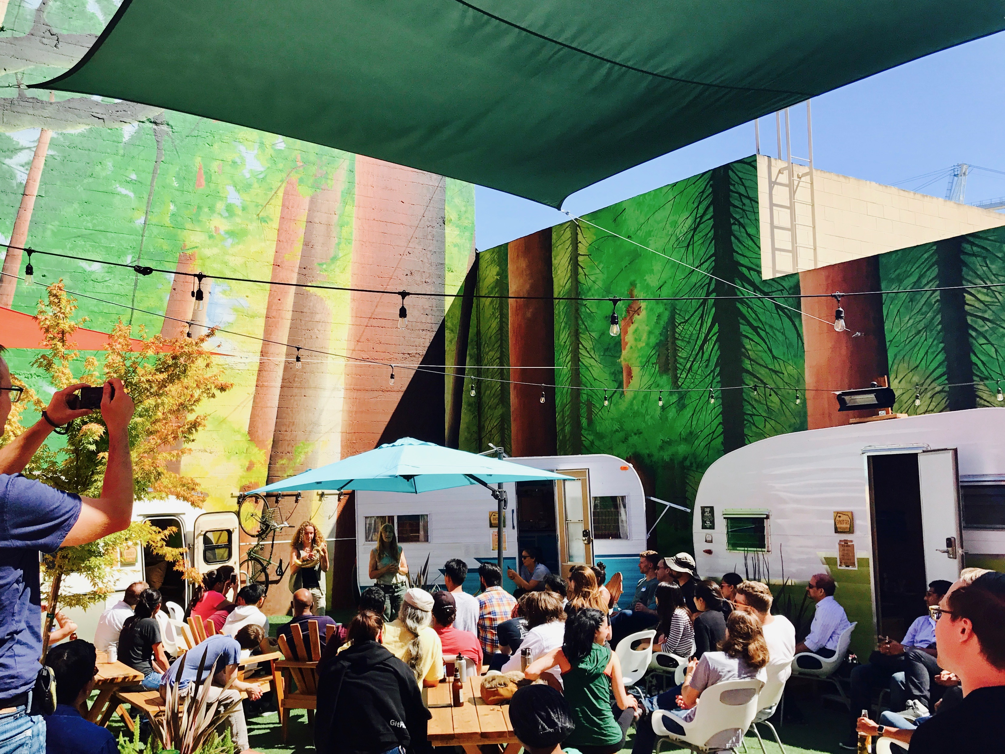San Francisco S First Outdoor Co Working Space Opens