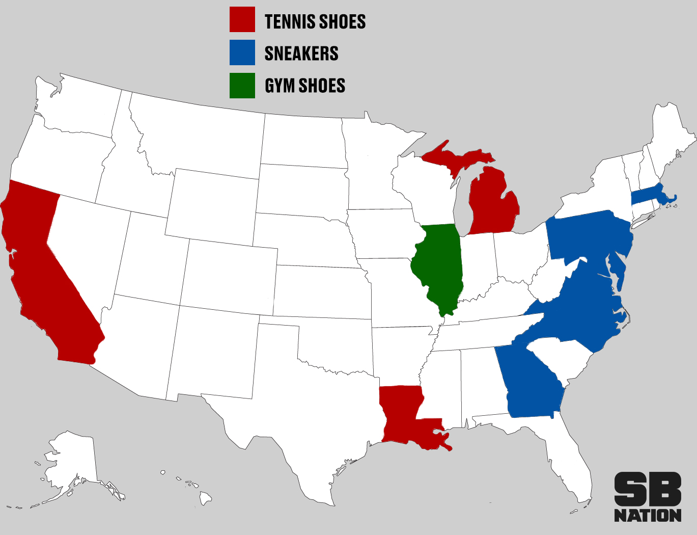 Tennis Shoes Vs Sneakers Map