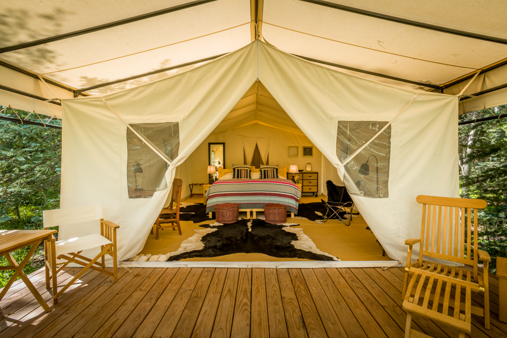 The view inside a tent at Dunton River C&. Courtesy of Dunton River C& & Glamping: The 9 best resorts in the U.S. - Curbed