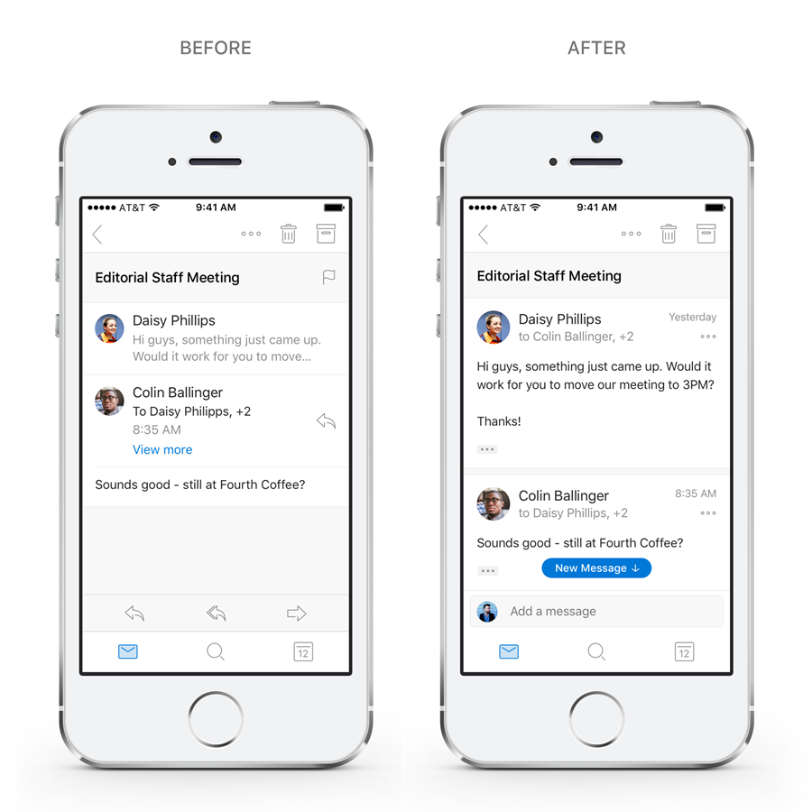 search email on iphone microsoft outlook is getting new search and reply features 16084