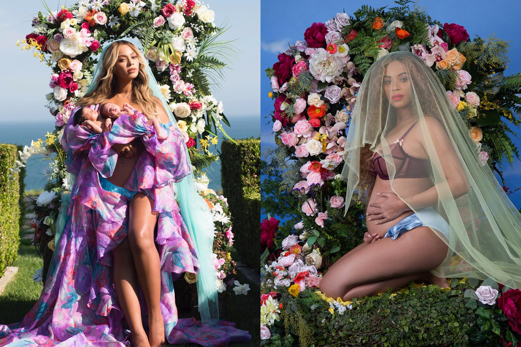 Beautiful Beyonce and her twins - The interesting story behind her dramatic dress