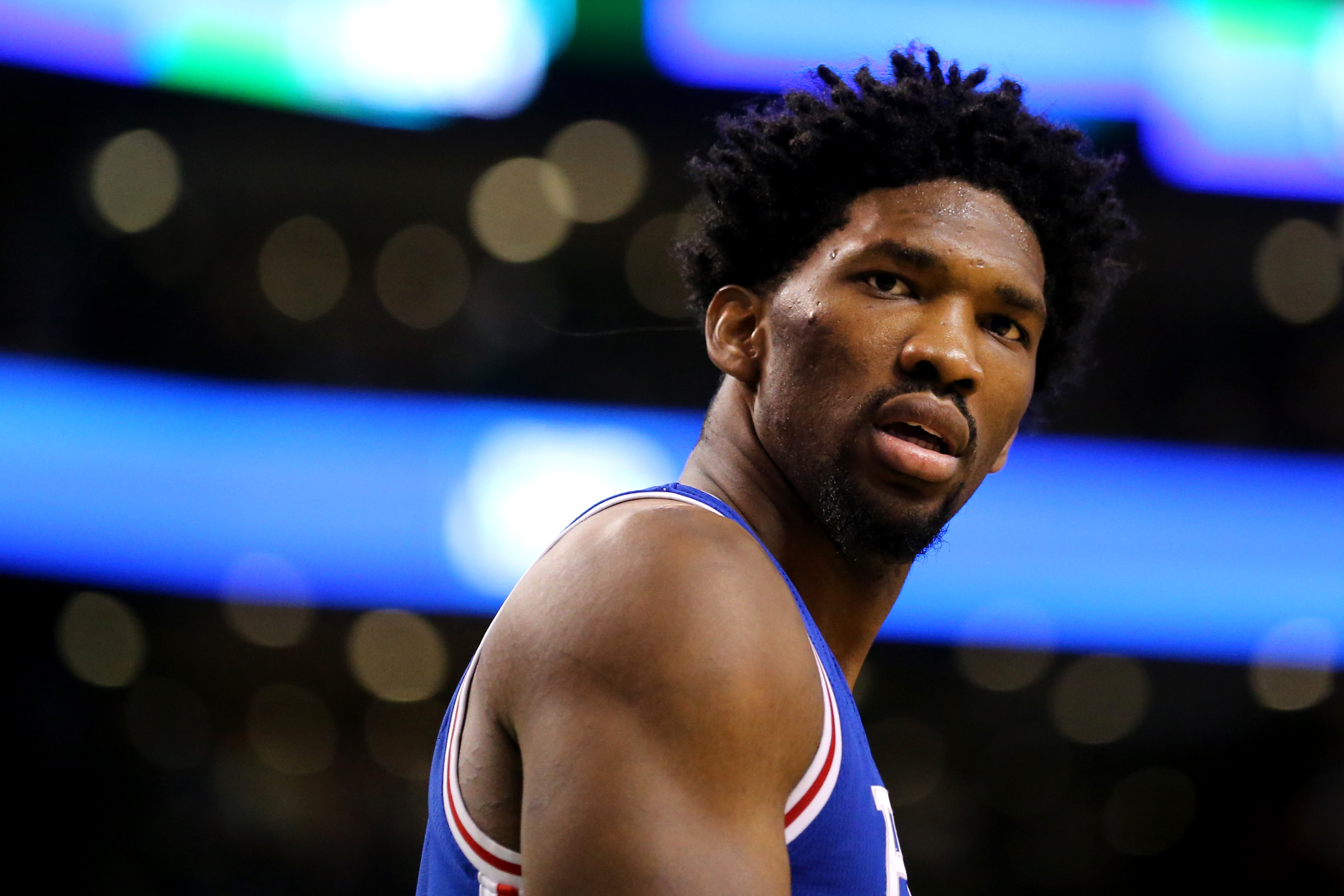 Joel Embiid has beef with his 'NBA 2K18' rating