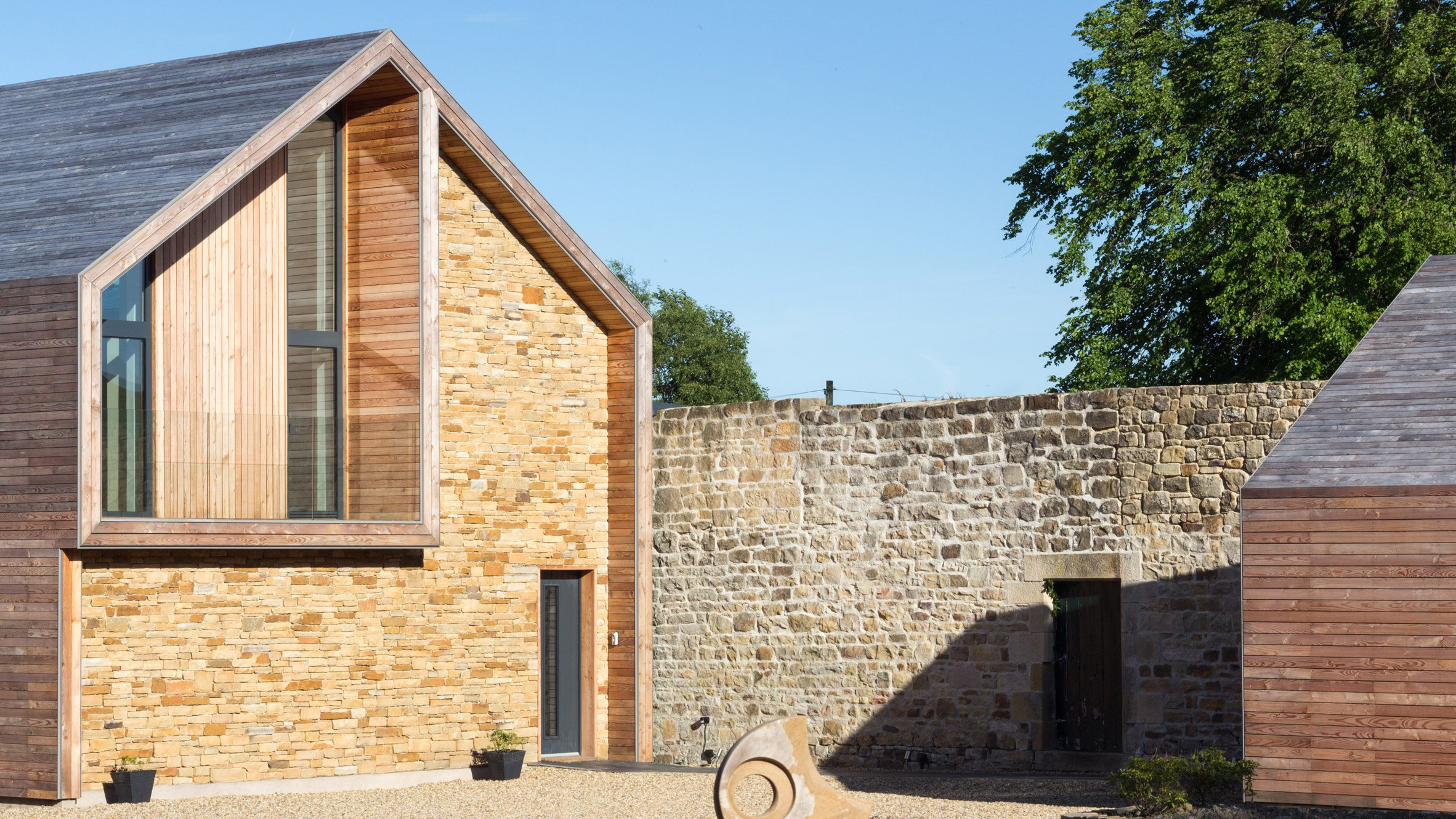 a developer built this sustainable, accessible modern house for