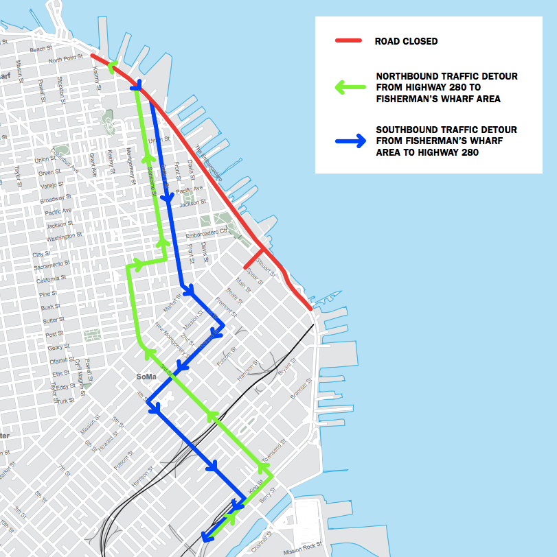 San Francisco Marathon street closures and Muni disruptions