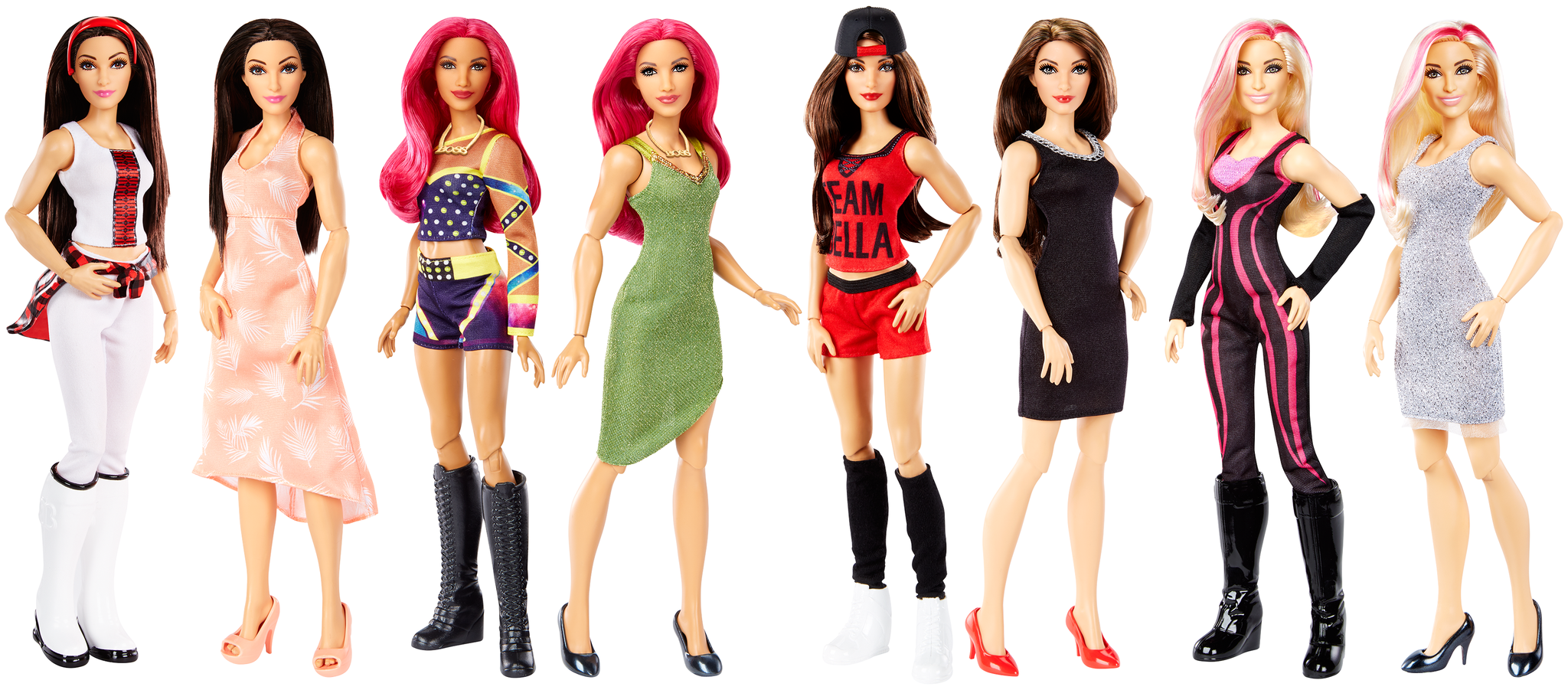 wwe and mattel u2019s girls toy line launches with first ever superstar fashion dolls