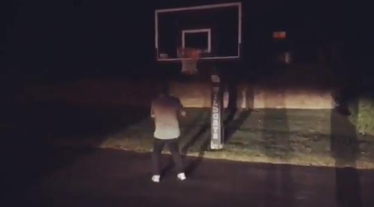 Coach Cal does the Drive-by Dunk Challenge