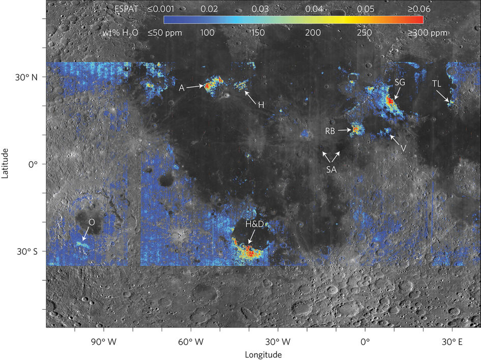 The Moon Has More Water Than We Thought The Verge - Us water ppm map