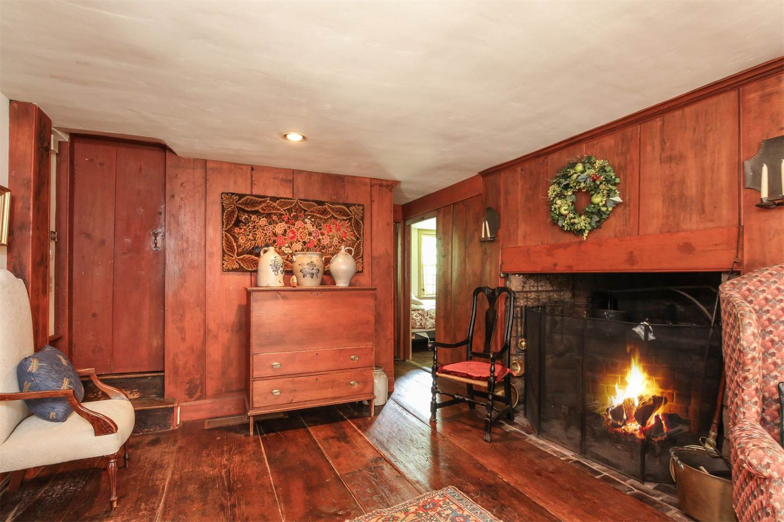 charming antique colonial with multiple fireplaces wants 670k
